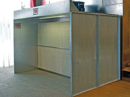Standard Dryfilter Booth.