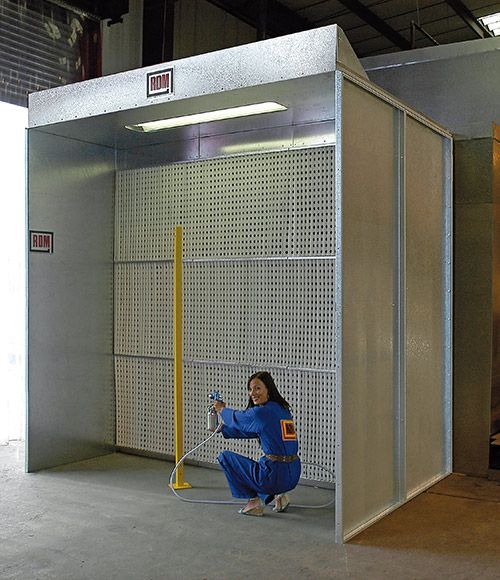 RDM Engineering Extended Height Dryfilter Booth.