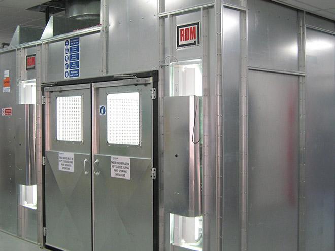 Enclosed Spray Room Double Doors