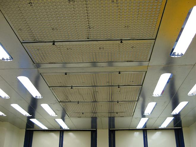 Enclosed Spray Room Lighting